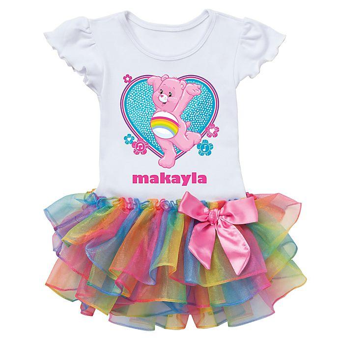 Alternate image 1 for Care Bears™ Cheer Bear Dance Rainbow Tutu T-Shirt