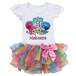 Shimmer and Shine™ Birthday Wish Rainbow Tutu T-Shirt