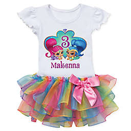 Shimmer and Shine™ Birthday Wish Rainbow Tutu T-Shirt