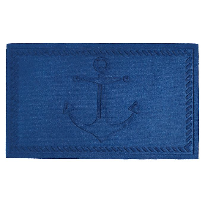 Alternate image 1 for Design Imports Anchor 18-Inch x 30-Inch Door Mat in Blue