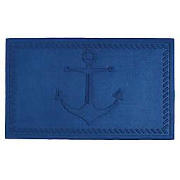 Design Imports Anchor 18-Inch x 30-Inch Door Mat in Blue