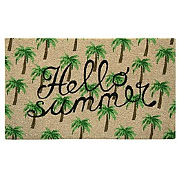 Bacova Hello Summer 18-inch x 30-Inch Door Mat in Green