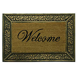 Bacova Pebble Welcome 22-Inch x 33-Inch Door Mat in Brown