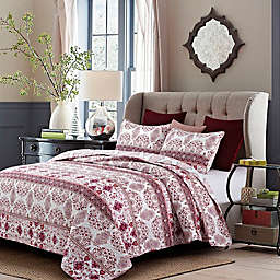 Kera Quilt Set in Red/Pink