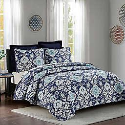 Marbella Quilt Set in Blue