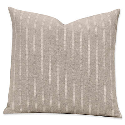 SIScovers® Striped Burlap 20-Inch Square Throw Pillow