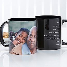 Photo Sentiments For Him 11 oz. Mug in Black