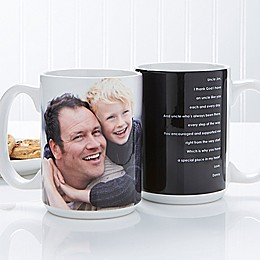 Photo Sentiments For Him 15 oz. Mug in White
