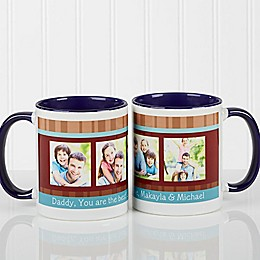 Photo Message 11 oz. Coffee Mug in Blue/White