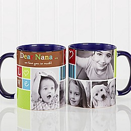 Photo Fun 11 oz. Coffee Mug in Blue