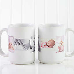 5 Photo Collage 15 oz. Coffee Mug in White