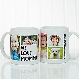 5 Photos Loving Message Coffee Mug