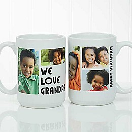 5 Photos Loving Message 15 oz. Coffee Mug in White