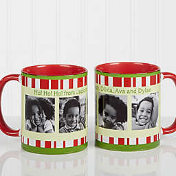 Christmas Photo Message 11 oz. Coffee Mug in Red