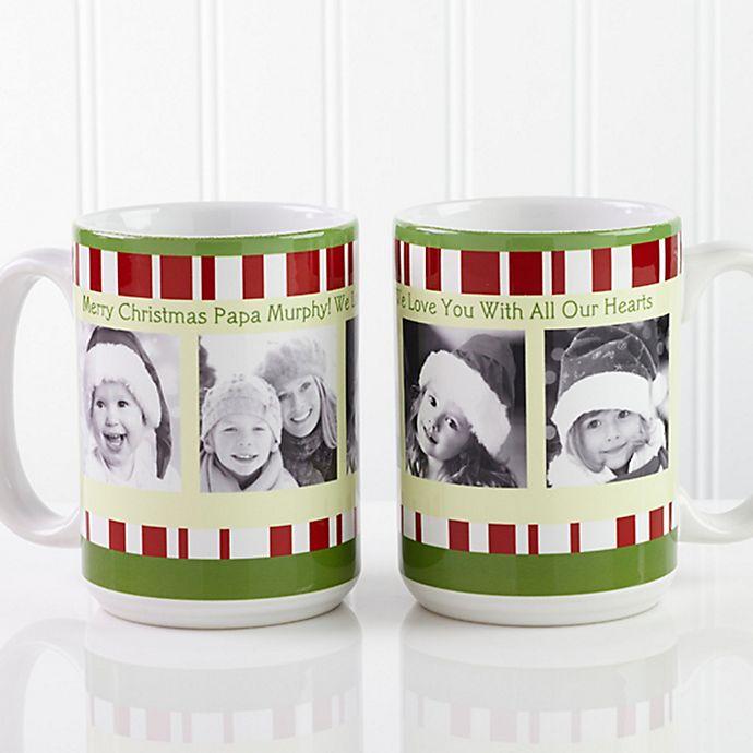 Alternate image 1 for Christmas Photo Message 15 oz. Coffee Mug in White