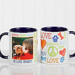 Peace, Love, Dogs Photo Coffee Mug