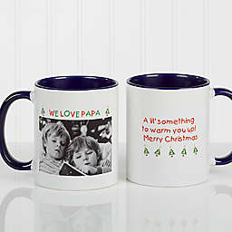 Christmas Photo Wishes 11 oz. Coffee Mug in Blue