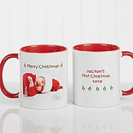 Christmas Photo Wishes 11 oz. Coffee Mug in Red