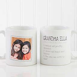 Definition of Grandma 11 oz. Photo Coffee Mug in White