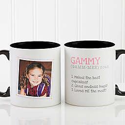 Definition of Grandma 11 oz. Photo Coffee Mug in Black