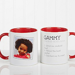 Definition of Grandma Photo Coffee Mug