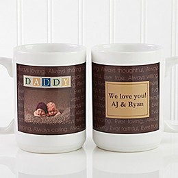Just For Him 15 oz. Photo Coffee Mug in White