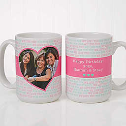 Love You This Much 15 oz. Coffee Mug in White