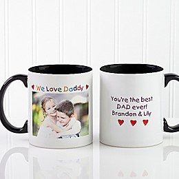 Photo Message 11 oz. Coffee Mug in Black