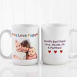 Photo Message 15 oz. Coffee Mug in White