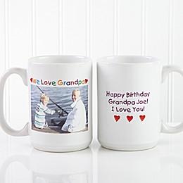 Photo Message 15 oz. Coffee Mug in White