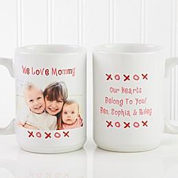 Loving You 15 oz. Photo Coffee Mug in White