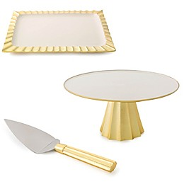 Marigold Artisans Fluted Serveware Collection in Gold