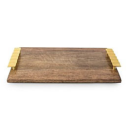 Marigold Artisans Fluted 16.75-Inch Handled Platter in Gold