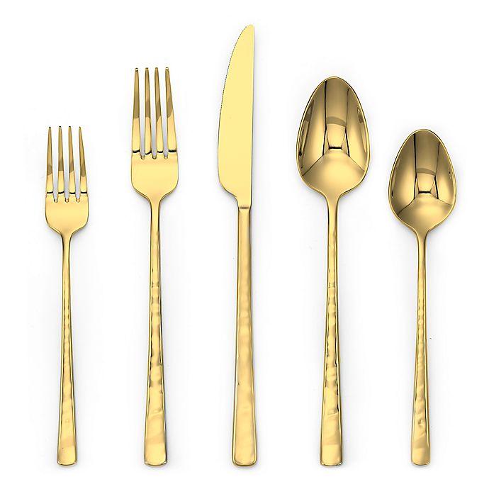 Alternate image 1 for Olivia & Oliver® Harper 20-Piece Flatware Set in Gold