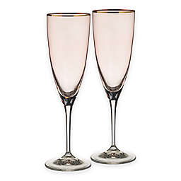 Oleg Cassini Whisper Toasting Flutes (Set of 2)