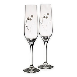 Oleg Cassini Lily Toasting Flutes (Set of 2)