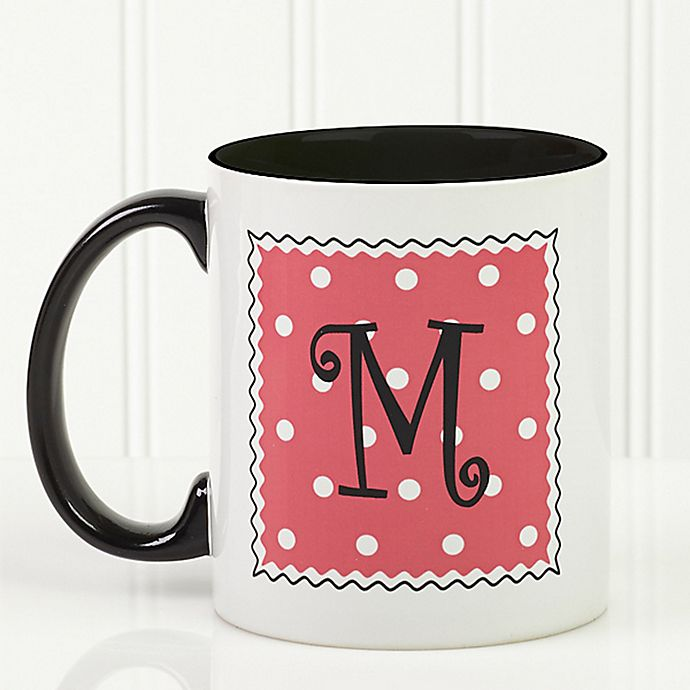 Alternate image 1 for Dot to Dot 11 oz. Personalized Coffee Mug