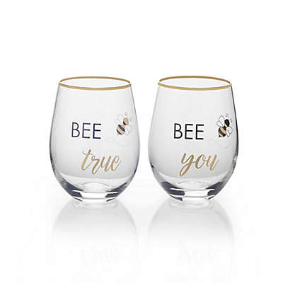 Mikasa® Bee Stemless Wine Glasses (Set of 2)