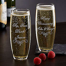 Write Your Own Stemless Champagne Flute