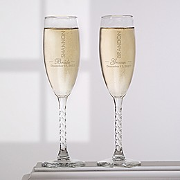The Wedding Couple Champagne Flutes (Set of 2)