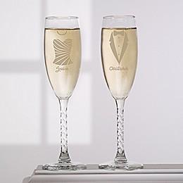 Wedding Attire Champagne Flute (Set of 2)