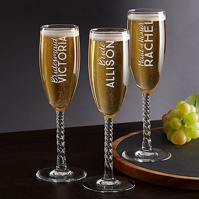 Wedding Gift Champagne Flutes: Wedding Party Twisted Champagne Flute