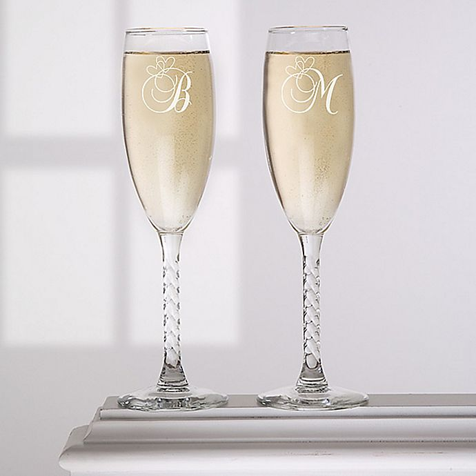 Alternate image 1 for A Toast To Love Champagne Flutes (Set of 2)