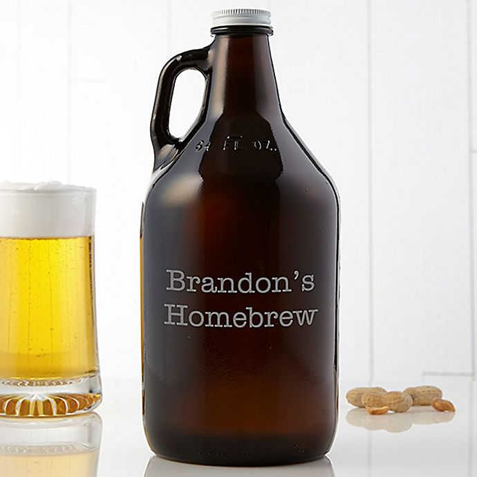 Alternate image 1 for You Name It 64 oz. Beer Growler