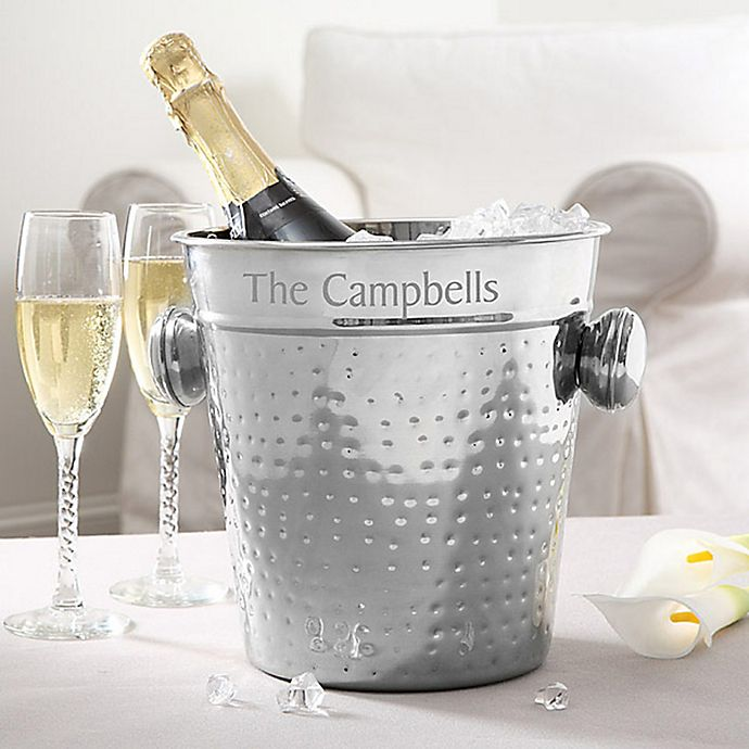 Alternate image 1 for Hampton Collection Engraved Chiller/Ice Bucket