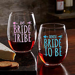 Bride Tribe Personalized 21oz. Stemless Wine Glass