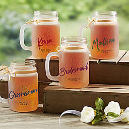 Wedding Party 12 oz. Frosted Mason Jar