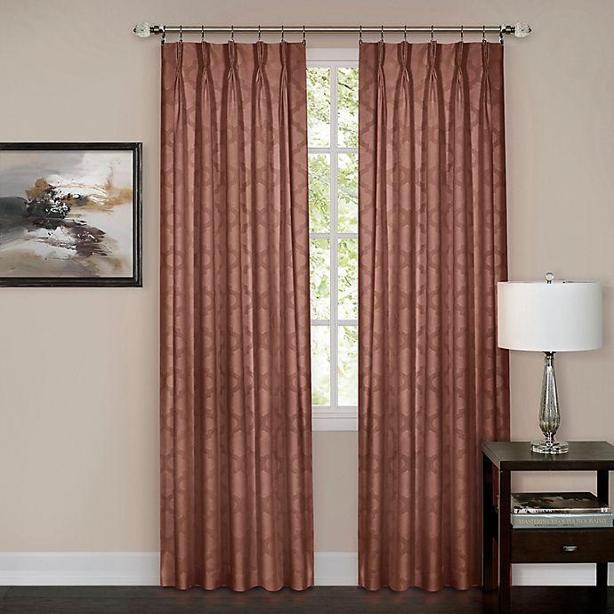 Alternate image 1 for Windsor Pinch Pleat Rod Pocket/Back Tab Window Curtain Panel (Single)