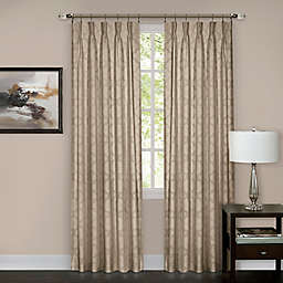 Windsor Pinch Pleat 84-Inch Rod Pocket/Back Tab Window Curtain Panel in Camel (Single)