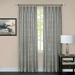 Windsor Pinch Pleat 84-Inch Rod Pocket/Back Tab Window Curtain Panel in Silver (Single)